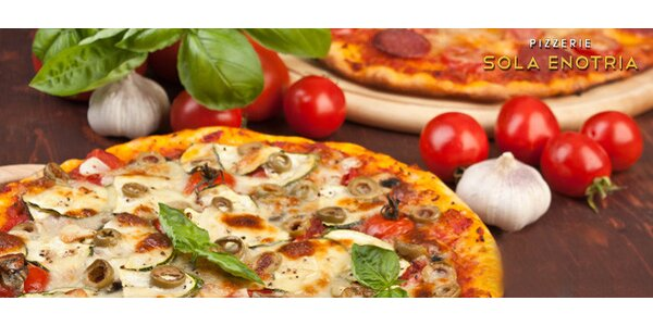 Dvě pizzy od italského šéfkuchaře v Sola Enotria