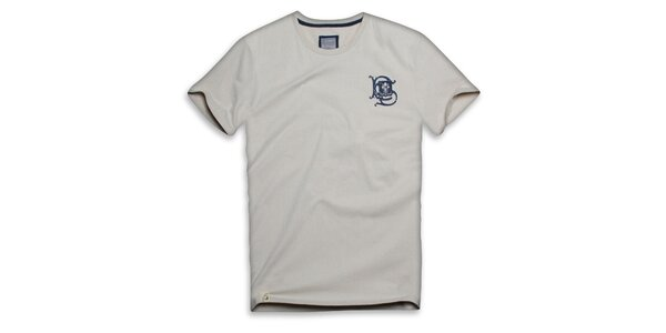 Pánské béžové bavlněné triko s ornamentem Paul Stragas