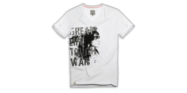 Pánské bílé tričko s nápisem Paul Stragas