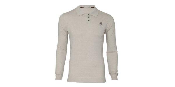 Pánský béžový svetr s límečkem Paul Stragas