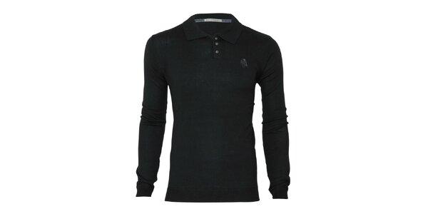 Pánský černý svetr s límečkem Paul Stragas