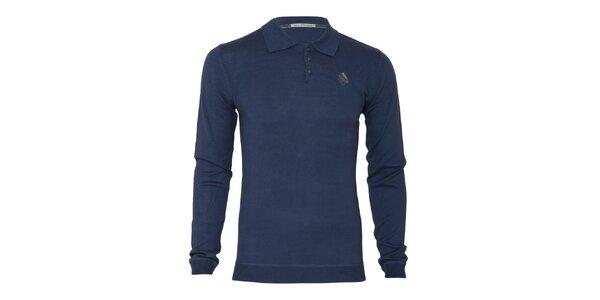 Pánský modrý svetr s límečkem Paul Stragas