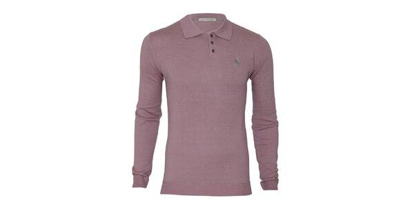 Pánský růžovofialový svetr s límečkem Paul Stragas