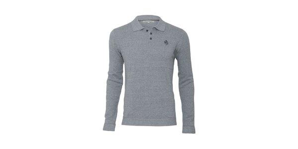 Pánský šedý svetr s límečkem Paul Stragas