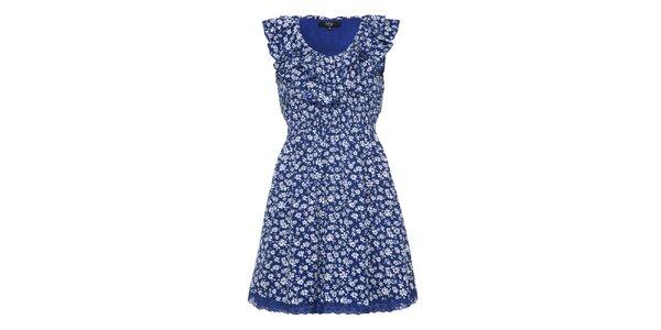 Dámské modré romantické šaty Iska