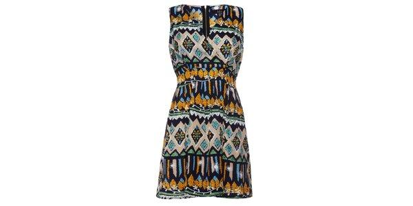 Dámské pestrobarevné vzorované šaty Iska