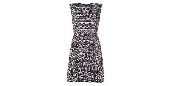 Dámské tmavě modré šaty bez rukávů Iska