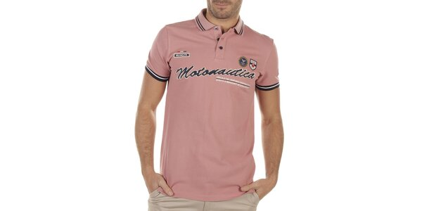 Pánské starorůžové polo tričko Bendorff