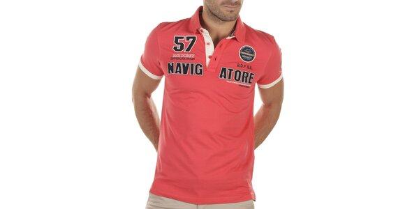 Pánské červené polo tričko s výšivkami Bendorff