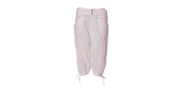 Dámské turecké lněné kalhoty Timeout v bílé barvě