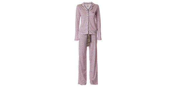 Dámské růžové pyžamo vive Maria s leopardím vzorem