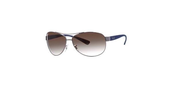Oválné sluneční brýle s modrými stranicemi Ray-Ban