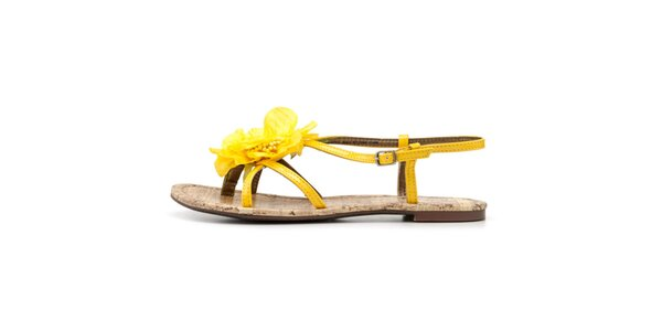 Dámské sandálky s žlutou květinou Blink