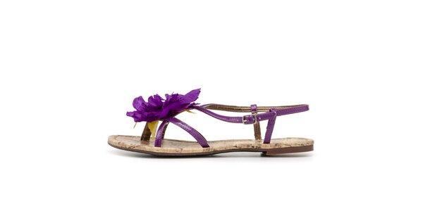 Dámské sandálky s fialovou květinou Blink