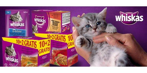 52 kapsiček Whiskas pro kočičí gurmány