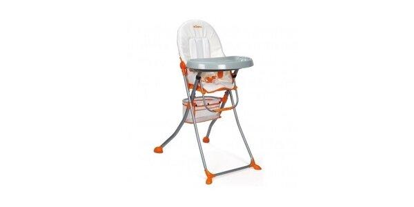 mOmma Jídelní židlička Easy- bílá