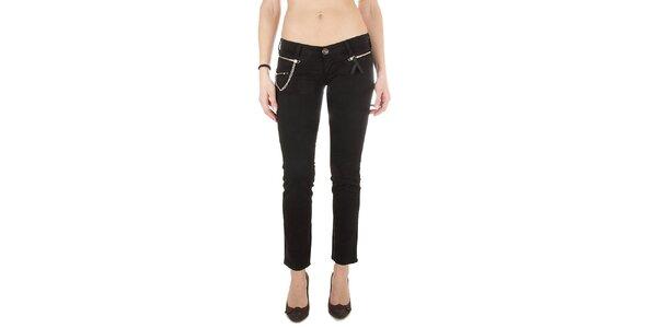 Dámské černé džíny Miss Sixty s řetízkem