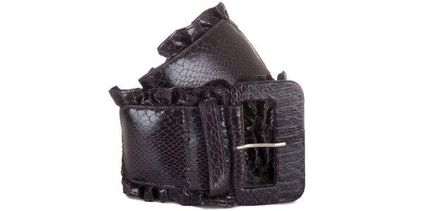 Dámský tmavě fialový pásek Miss Sixty s kanýrkem