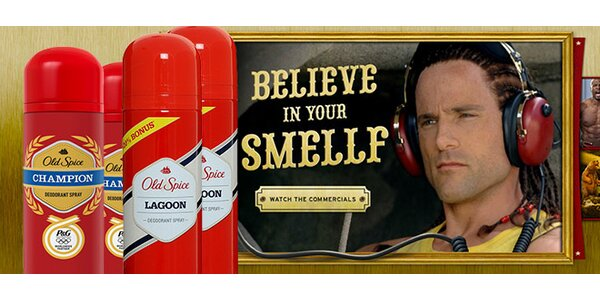 2 pánské deodoranty Old Spice