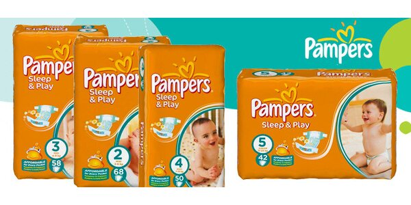 Maxi balení plenek Pampers Sleep&Play