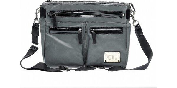 Pánská tmavě šedá brašna přes rameno Calvin Klein