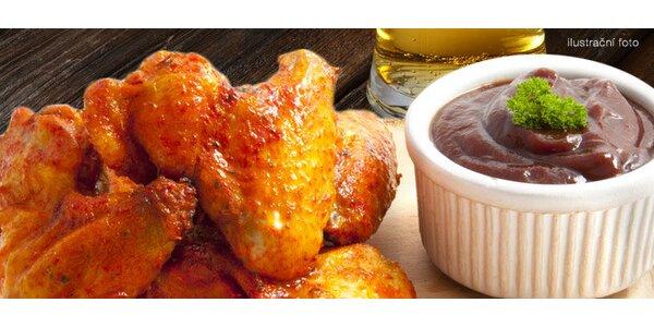 1 nebo 2 kila pikantních kuřecích křidýlek