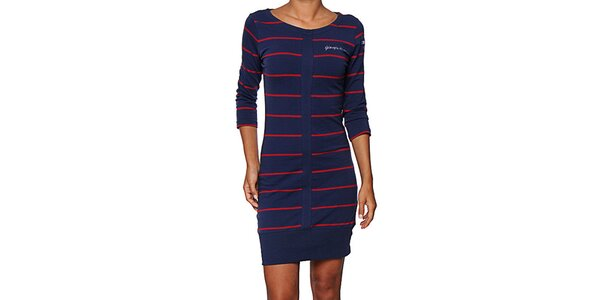 0db63786bfa Dámské modro-červené pruhované šaty Giorgio di Mare