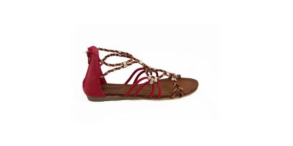 Dámské červené páskové sandálky Vanessa