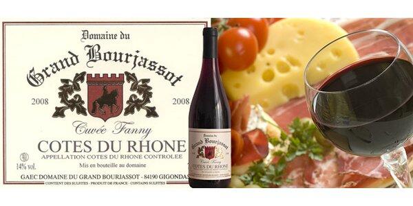 TŘI francouzská vína Côtes du Rhone, ročník 2008