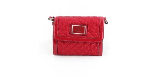 Dámská červená prošívaná kabelka Guess