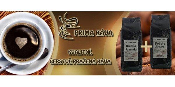 Čerstvě pražená jihoamerická káva 2x 500g