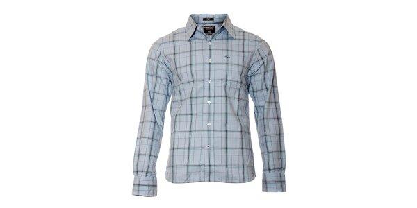 Pánská kostkovaná košile značky Timeout ve světle modré barvě