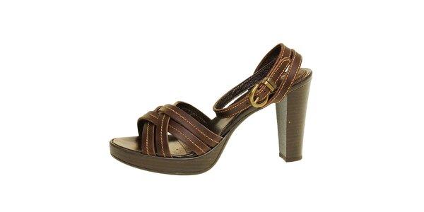 Dámské hnědé páskové sandálky Levis