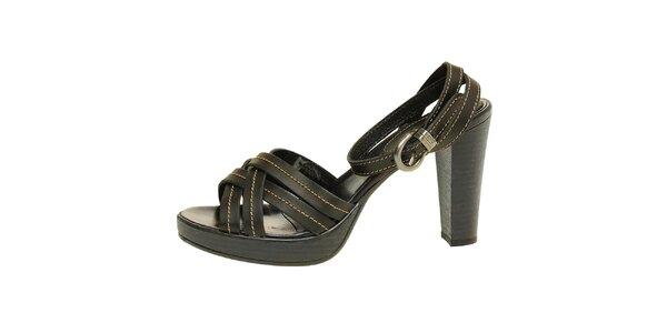 Dámské černé páskové sandálky Levis
