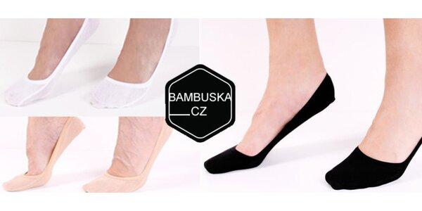 9 párů dámských bambusových ponožek do balerínek