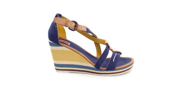 Dámské vícebarevné sandály na klínku Levi's