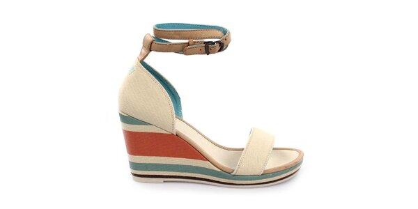 Dámské sandály na pruhovaném klínku Levi's