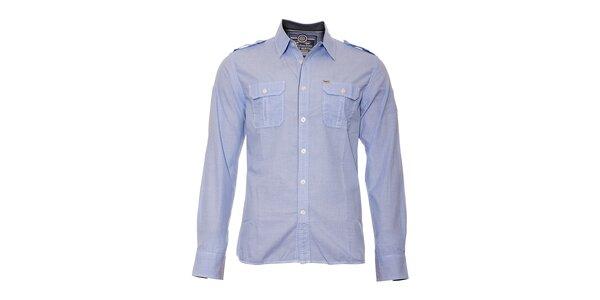 Pánská košile značky Timeout v ledově modré barvě