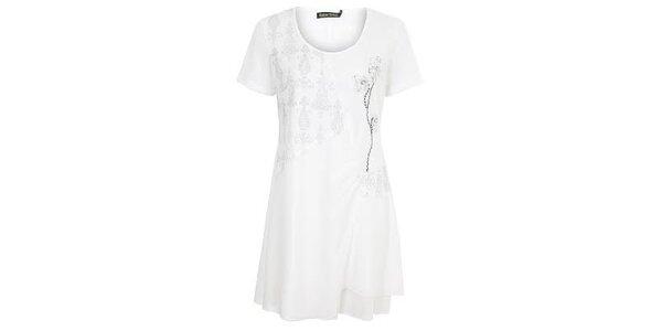 Dámský bílé šaty s ozdobami Sugar Crisp
