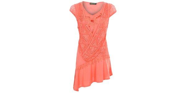 Dámské korálově červené šaty Sugar Crisp