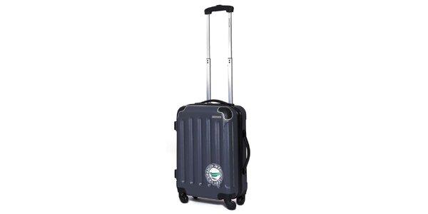 Menší pevný šedý kufr Ravizzoni