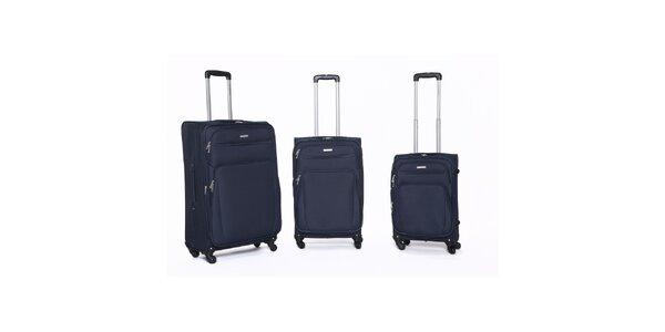 Set 3 různě velkých cestovních kufrů v modré barvě Ravizzoni