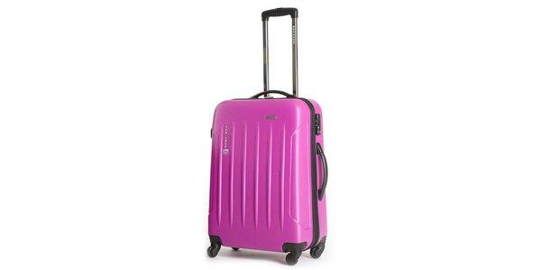 Větší pevný růžový kufr Ravizzoni