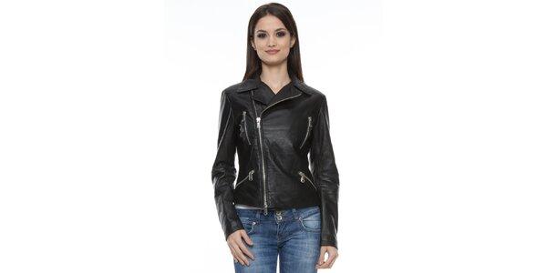 Dámská černá bunda se zipy Mangotti
