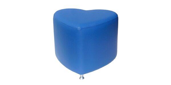 Taburet Styl - modrý