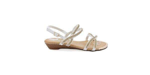 Dámské bílé páskové sandály Bless