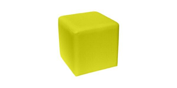 Taburet Domino - žlutý