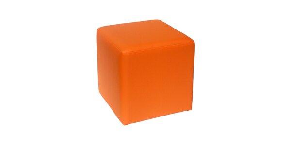 Taburet Domino - oranžový