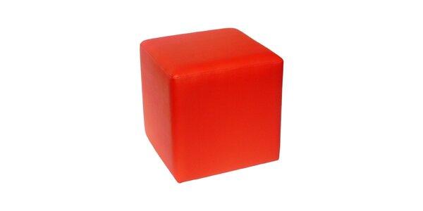 Taburet Domino - červený