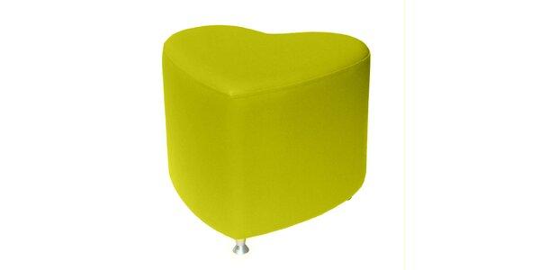 Taburet Styl - žlutý